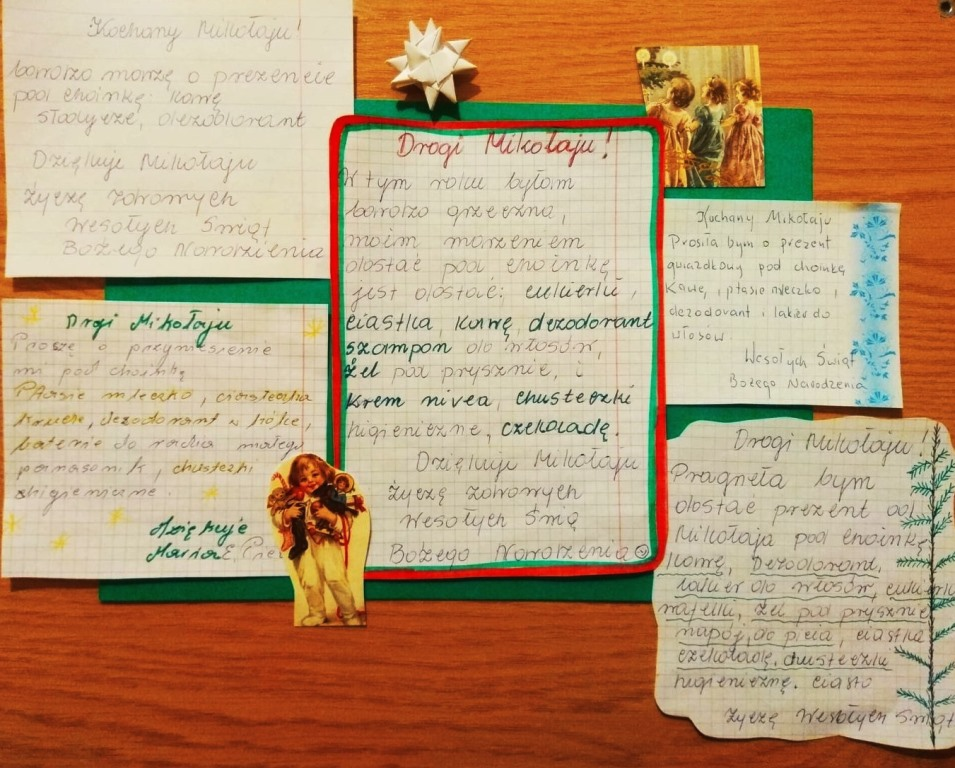 listy do sw. Mikołaja
