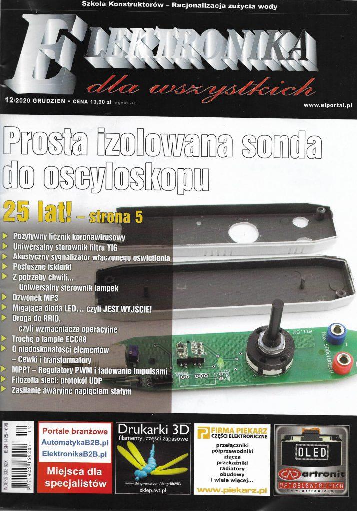 Okladka_Elektronika dla Wszystkich_2020_nr 12