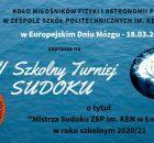 VI Szkolny Turniej Sudoku_plakat